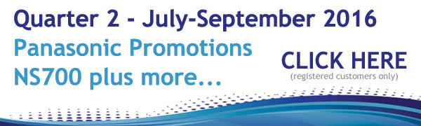 Panasonic Promotions July - September 2016