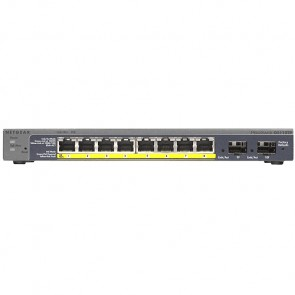 Netgear ProSAFE 8 Port Managed Gigabit PoE Smart Switch with 2 Gigabit Fibre SFP