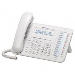2 x 12 Key 3 Line Backlit Display, Self Labelling Handset (White)