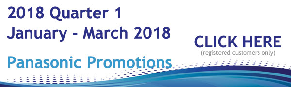 Panasonic Promotions January - March 2018